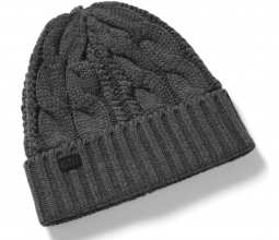 Gill Cable Knit Beanie - Graphite